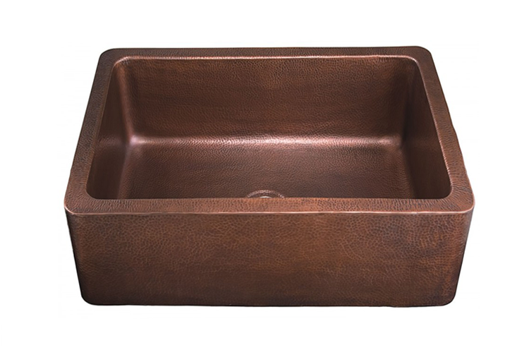 COPPER APRON SINKS. MCA2522S